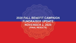 2020 Fall Benefit - Final Results