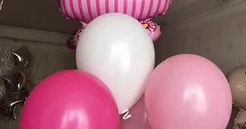 Украшение интерьера квартиры шарами на выписку