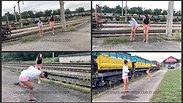 Train tracks (in public)