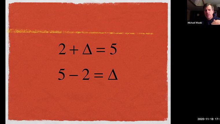 Later Algebra Workshop Recording