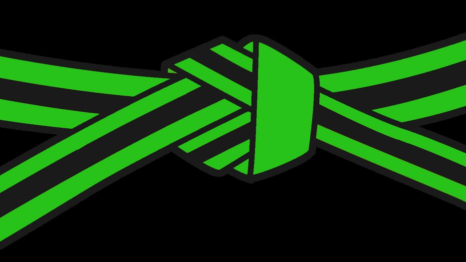07 Green Black Stripe
