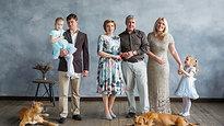 семейная съемка с собаками