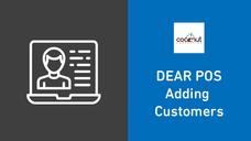 DEAR POS - Adding Customers