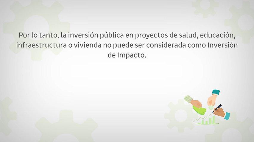 9. PUEDE LA INVERSIÓN PÚBLICA SER CONSIDERADA INVERSIÓN DE IMPACTO