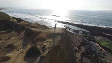 Surfing Ericeira Ribeira dIlhas Coxos Cave Pedra Branca Algodio  With aerial drone shots