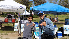 Free kids fishing event with council woman Monica Rodriguez district 7 Hansen Dam