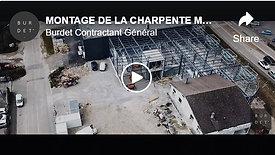 MONTAGE DE LA CHARPENTE MÉTALLIQUE | SAINT-GENIS-POUILLY