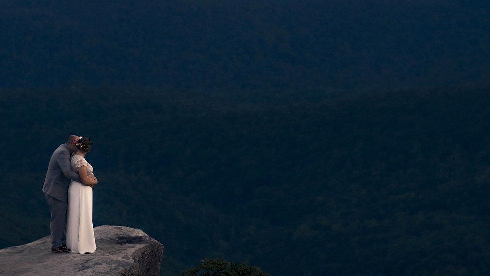 Intimate Sunset Mountain Elopement // Blue Ridge Parkway - Asheville, North Carolina
