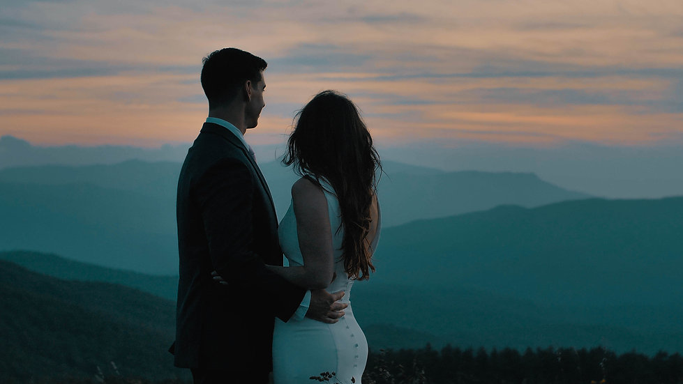 You will want to get eloped after seeing this! | Romantic Max Patch Blue Ridge Mountain Elopement