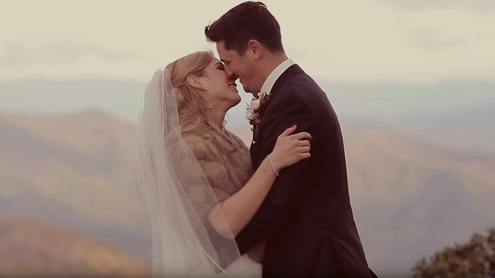 MOST BEAUTIFUL Intimate Mountain Elopement EVER! - Asheville North Carolina Wedding VIdeography