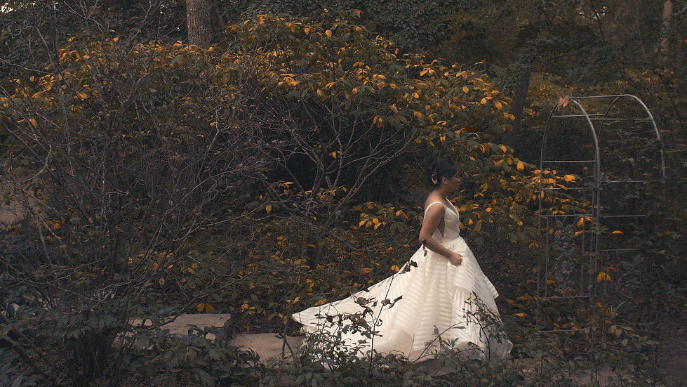 Dancing Couple in a Botanical Garden | North Carolina Arboretum Weddings // Asheville, NC