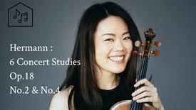 """Hermann : 6 Concert Studies Op.18 No.2 """"Adagio"""", No.4 """"Romance"""""""