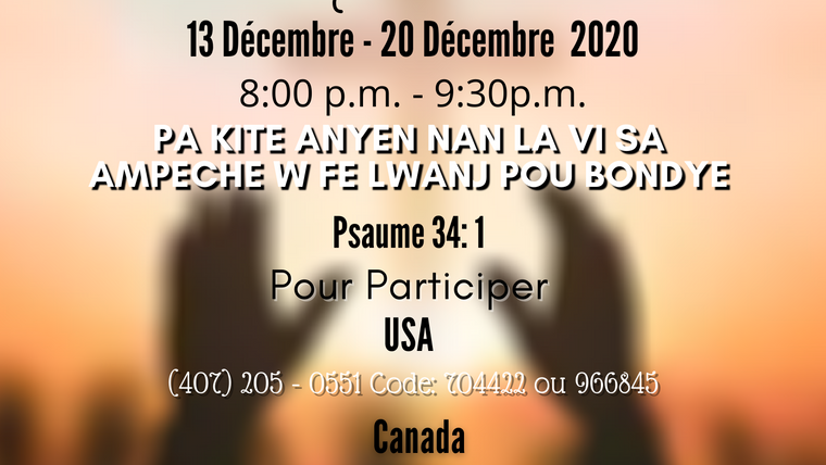 Conference en ligne Décembre 2020.