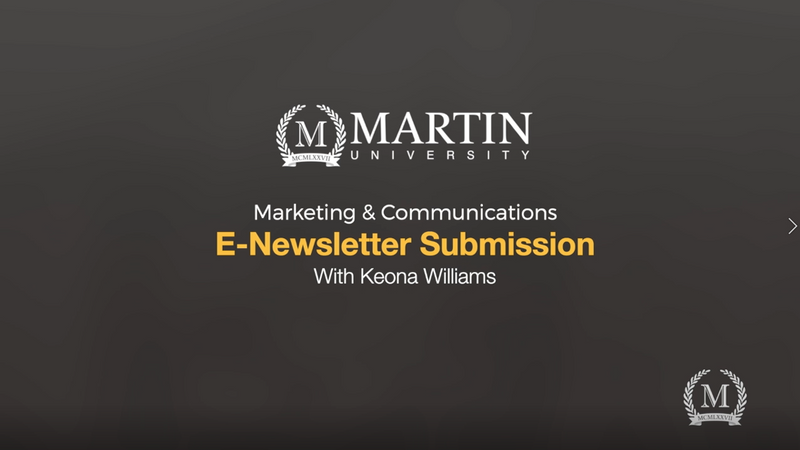 How to submit a E-Newsletter Request