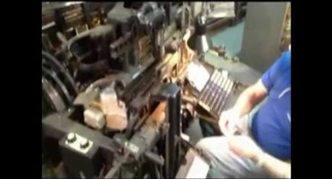Neville using Linotype