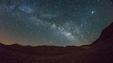 Stars over Ramon crater