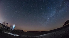 Astrophotography in Ramon crater