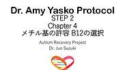 Dr. Amy YaskoプロトコールSTEP 2 メチレーションサポートB12の選択
