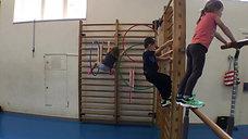 kindergarten - klettern - barren/sprossenwand/reifen - kletterparcours