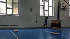 3./4. - balancieren - affenschwänze/kasten/bank hoch - rollbrett