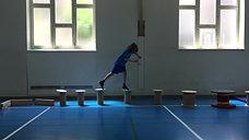 5./6. - balancieren - rollen/hölzer - gleichgewichtsparcours