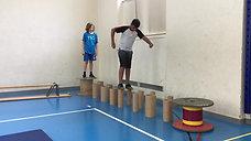 5./6. - körperspannung - rollen - gleichgewichtsparcours