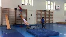 5./6. - wagnis - bank/teppich/sprossenwand - skifahren - salto