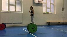 3./4. - balancieren - rolle gross - 1 ball jonglieren rückwärts