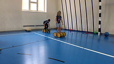 kindergarten - balancieren - pedalo - fahren rw