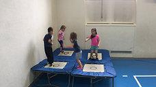 kindergarten - kooperieren - minitramp - kreis