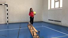 1./2. - balancieren - bank - jonglieren