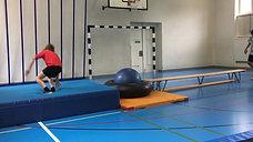 5./6. - springen - bank/gymnastikball/schlauch - salto