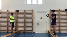 5./6. - balancieren - bank/volleyball - oberes zuspiel