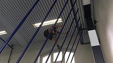 1./2. - wagnis - kletterstange - palmenklettern