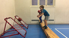1./2. - balancieren - bank/tchoukballnetz - balltrainer
