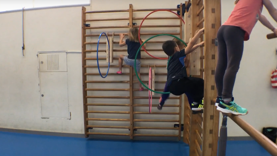 kindergarten - springen, stützen und klettern