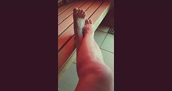 Soaking wet feet!