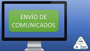 ENVÍO DE COMUNICADOS