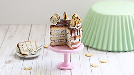 Chocolate Chip Cookie Naked Cake (Cookie tutorial included)