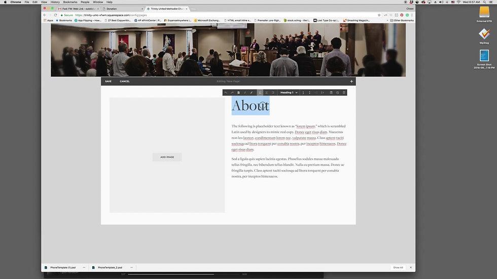 Trinity Website Edits