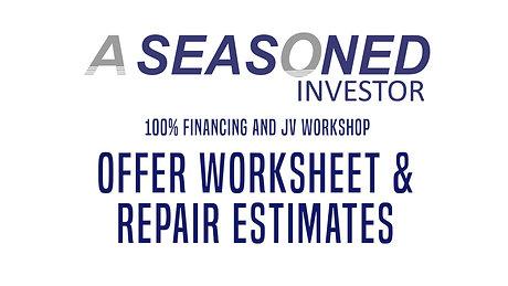 05. Offer Worksheet_Repair Estimates