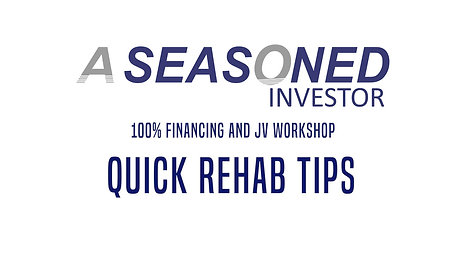 02. Quick Rehab Tips