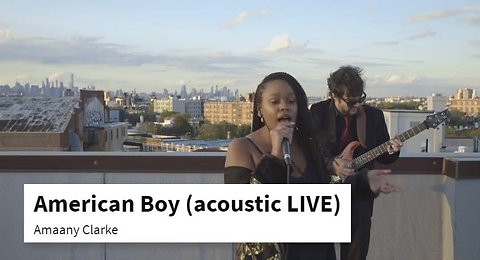 American Boy- acoustic LIVE