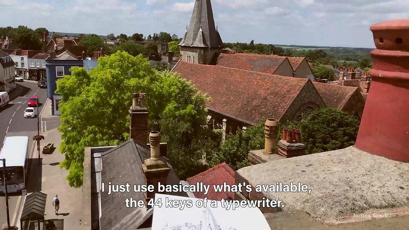 James Cook Typewriter Artist