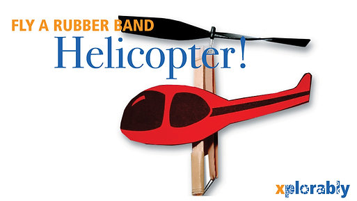 Rubber Band Helicopter - Potential Energy
