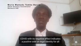 Wurie Mamadu Tamba Barrie, Chief Country Coordinator for Network AID