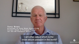 Tony Dean, Former Head of Product Design for the UK Passport Office, Principal of Tony Dean Consulting