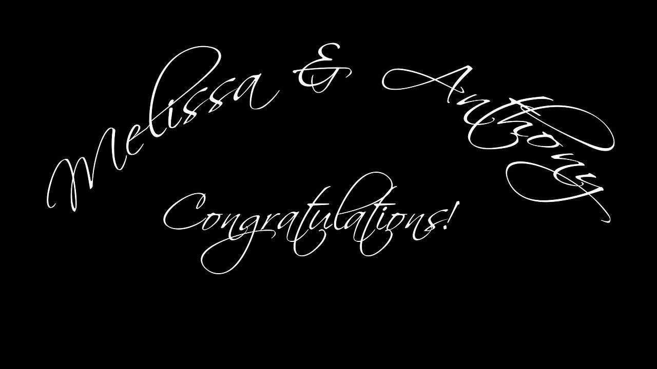 Melissa & Anthony's Wedding Ceremony