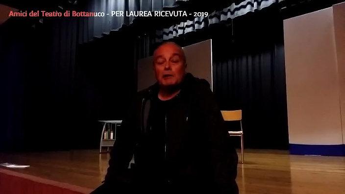 PER LAUREA RICEVUTA Intervista all'autore