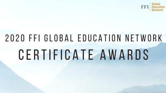 FFI 2020 Gen Certificate Award Ceremony
